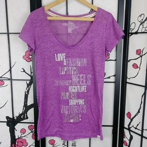 VS Supermodel Essentials Bling Tee Purple Burnout